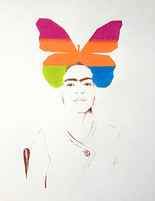 Simplicity Drawing - Frida Kahlo Nothing Is Absolute 2 by Son Of the Moon