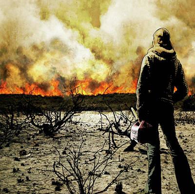 Digital Art - Nothing Left To Burn by Jason Casteel