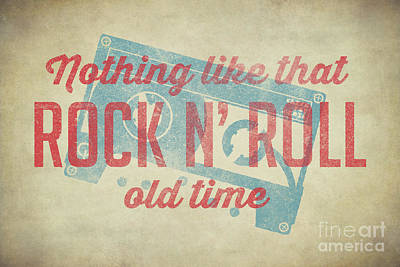Old Times Digital Art - Nothing Like That Old Time Rock N Roll 60x40 by Edward Fielding