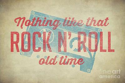 Digital Art - Nothing Like That Old Time Rock N Roll 60x40 by Edward Fielding