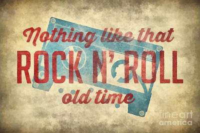 Digital Art - Nothing Like That Old Time Rock N Roll Wall Art 2 by Edward Fielding