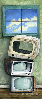 Theft Painting - Nothing On Tv by James Stanley