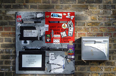 Notice Board For Scrap Art Print by Jez C Self