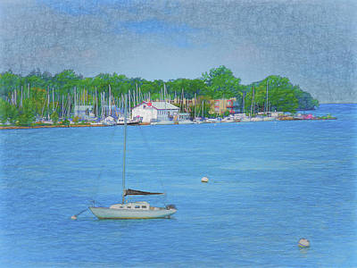 Digital Art - Notl Marina by Leslie Montgomery