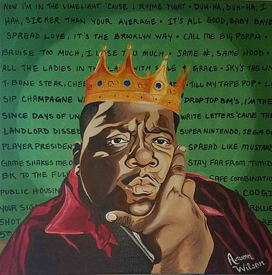 Cities Painting - Notorious Big by Autumn Leaves Art