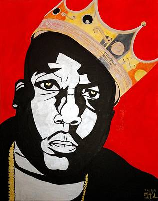 Hiphop Painting - Notorious Big by Estelle BRETON-MAYA