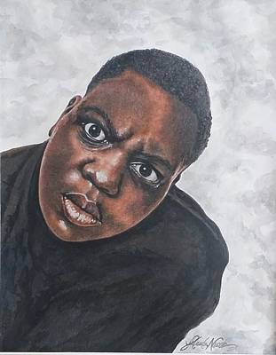 Drawing - Notorious B.i.g. by Jeleata Nicole