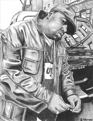 Hop Drawing - Notorious Big by Jeremy Waters