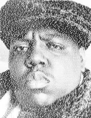 Notorious B.i.g. Juicy Lyrics Mosaic Print by Paul Van Scott