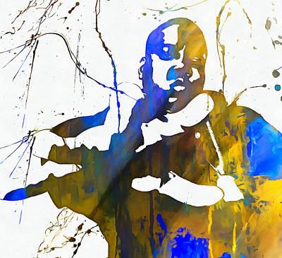 Rap Painting - Notorious Big Paint Splatter by Dan Sproul
