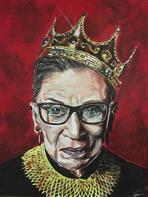 Painting - Notorious Rbg by Joel Tesch