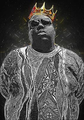 Rap Digital Art - Notorious by Semih Yurdabak