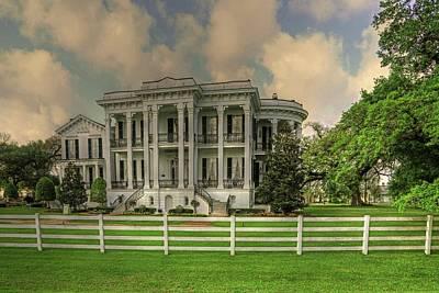 Photograph - Notoway Plantation White Castle Louisiana by Ronald Olivier
