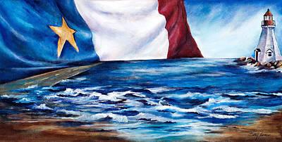 Acadian Painting - Notre Belle Acadie by Patsy Cormier