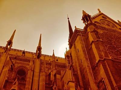 Photograph - Notre Dame At Sunset by Tony Grider