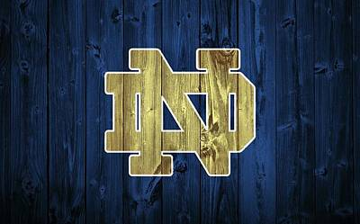 Ncaa Mixed Media - Notre Dame Barn Door by Dan Sproul