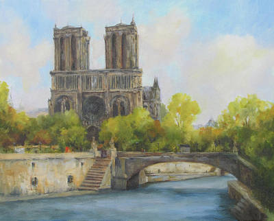 Notre Dame Cathedral Painting - Notre Dame by Barrett Edwards