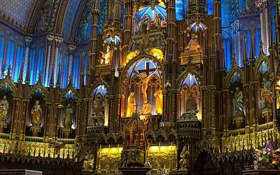 University Digital Art - Notre Dame Basilica In Montreal by Super Lovely