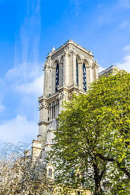 Photograph - Notre Dame Bell Tower by Nila Newsom