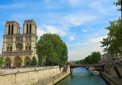 Photograph - Notre Dame Beside The Seine by Betty Buller Whitehead