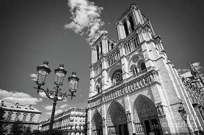 Photograph - Notre Dame Black And White by Delphimages Photo Creations