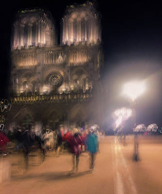 Photograph - Notre Dame By Night by Alex Lapidus