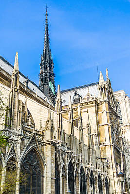 Photograph - Notre Dame Cathedral - Gothic Architecture by Nila Newsom