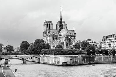 Photograph - Notre Dame Cathedral by Helen Northcott