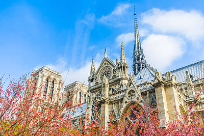 Photograph - Notre Dame Cathedral In Paris Spring by Nila Newsom
