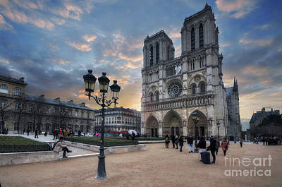 Photograph - Notre Dame Cathedral Paris 2.0 by Yhun Suarez