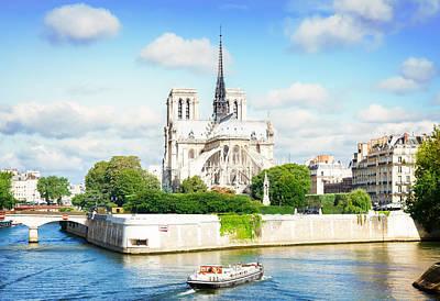 Notre Dame Cathedral, Paris France Art Print