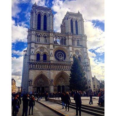 Paris Skyline Photograph - Notre Dame Cathedral #paris #notredame by Florin Adrian
