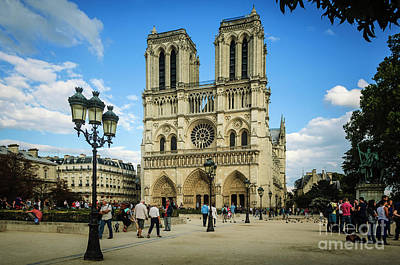 Photograph - Notre Dame Cathedral by Paul Warburton