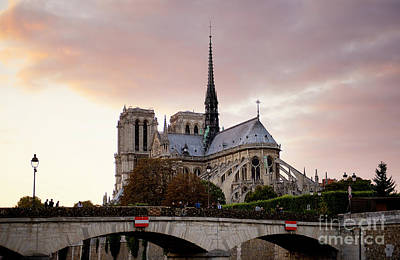 Photograph - Notre Dame Cathedral Sunset by Ivy Ho