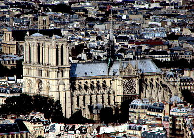 Photograph - Notre Dame Cathedral by T Guy Spencer