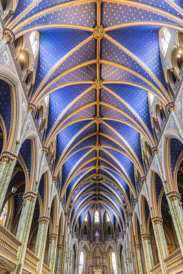 Photograph - Notre Dame Ceiling by Josef Pittner