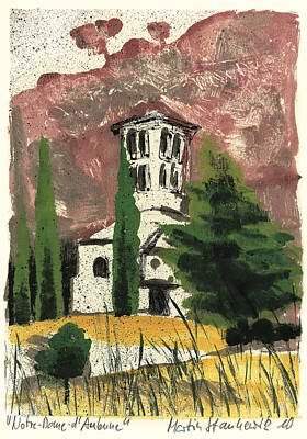 Art Print featuring the painting Notre Dame D'aubune by Martin Stankewitz