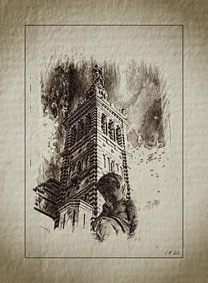 Notre-dame De La Garde Art Print by Jean Francois Gil