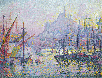 Pointillist Painting - Notre-dame-de-la-garde by Paul Signac
