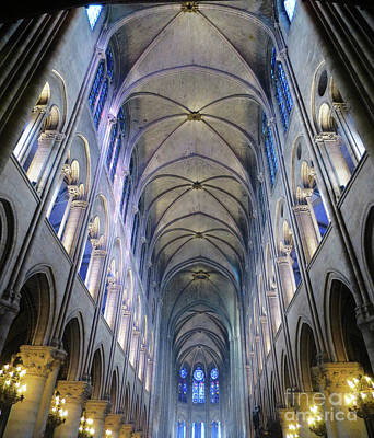 Notre Dame De Paris - A View From The Floor Art Print