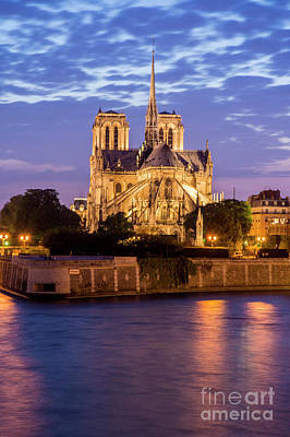 Photograph - Notre Dame De Paris At Sunset by Tim Mulina