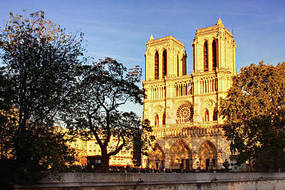 Photograph - Notre Dame De Paris Facade by Barry O Carroll