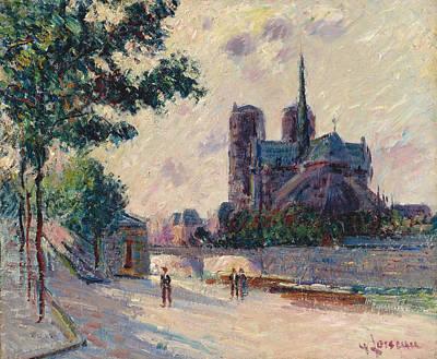 Notre-dame De Paris Art Print by Gustave Loiseau