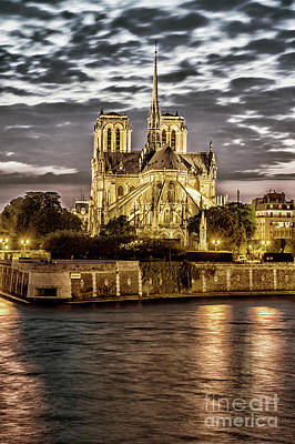 Photograph - Notre Dame De Paris In Gold by Tim Mulina