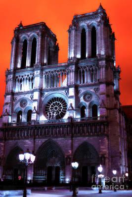Photograph - Notre Dame De Paris Pop Art by John Rizzuto
