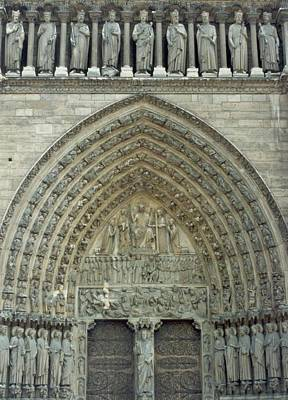 Photograph - Notre Dame De Paris West Facade by Christopher Kirby