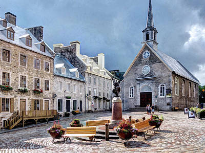 Photograph - Notre-dame-des-victoires Church by Dave Thompsen