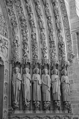 Photograph - Notre Dame Doorway Detail Paris France by Toby McGuire
