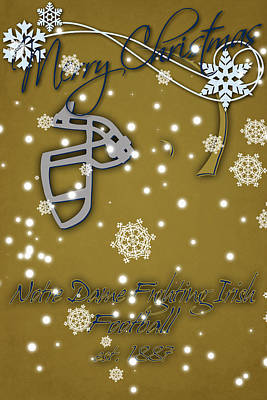Notre Dame Fighting Irish Christmas Card 2 Art Print by Joe Hamilton