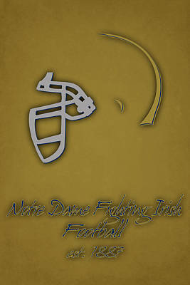 Notre Dame Fighting Irish Helmet 2 Art Print by Joe Hamilton